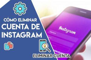 Eliminar cuenta de instagram