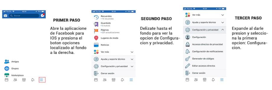 Pasos para eliminar facebook desde el iphone