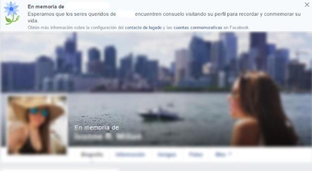 cuenta conmemorativa de facebook