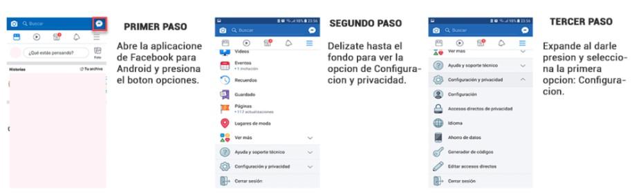 paso 1 para eliminar facebook desde android